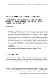 social evolution theory
